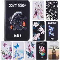Fancy Colorful Pattern PU Leather Full-Body Protective Case Stand Feature Card Slot For Samsung Galaxy Tab S2 9.7 SM-T815 T810