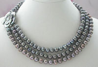Lii Ji Natural Baroque 7 8mm Freshwater Pearl Mutil Color 50 Long Necklace