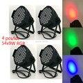 (4pcs) Eyourlife 54x9W RGB LED PAR CAN Stage Effect Light Auto DMX512