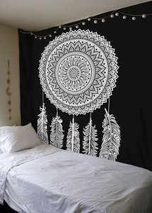 Image 3 - Indian Mandala Tapestry Wall Hanging Multifunctional Tapestry Boho Printed Bedspread Cover Mat Blanket Picnic cloth