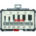 BOSCH 2607017466 Set 6 straight end mills 8mm Power Tool Accessories    -