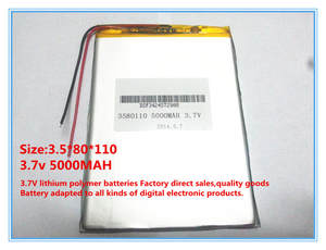 Battery Tablet 5000mah Li-Ion for 8inch N83/N86/A85 A86 PC 3580110 Approx Original