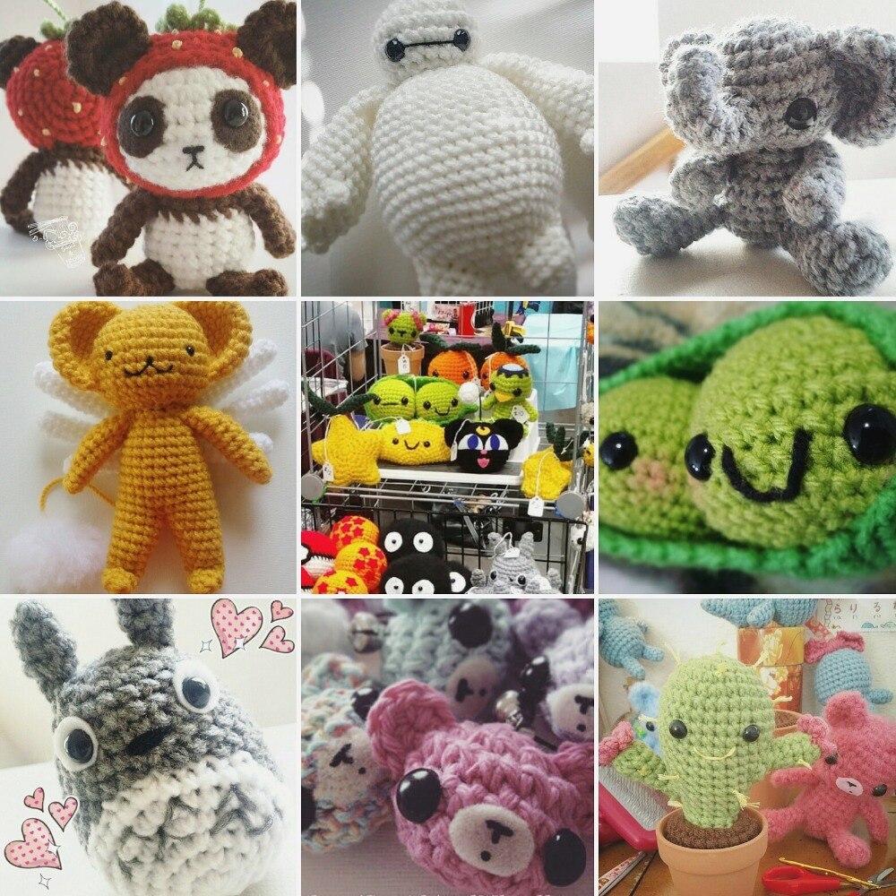 100pcs Black Plastic Doll Eyes Safety Eyes For Teddy Bear Stuffed Toys Snap Animal Scrapbooking Puppet Dolls Craft Eyes For Toy #2