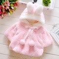 Клиренс Высокое качество Мода Зима Осень детская одежда детей пальто Младенца Цветок девочка верхняя одежда для Детей куртка