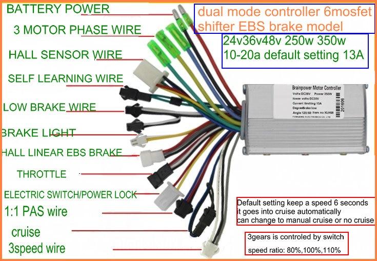6mosfet BLDC    controller    sensorless 24v36v48v60v 250w350w