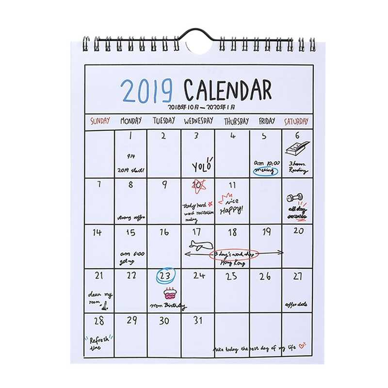 Detail Feedback Questions about 2019 Simple Paper Calendar Creative