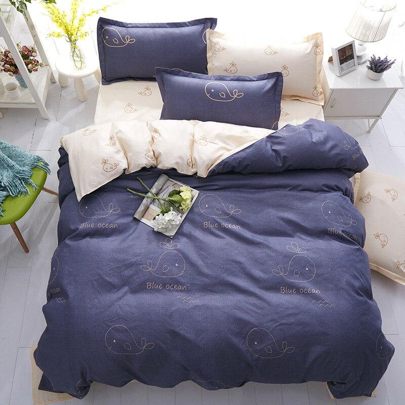 Home Textile Plaid Stripes Cotton 4pcs Bedding Sets Bed Linen Duvet Cover Bed Sheet Pillowcase/bed Set Queen Size Free Shipping