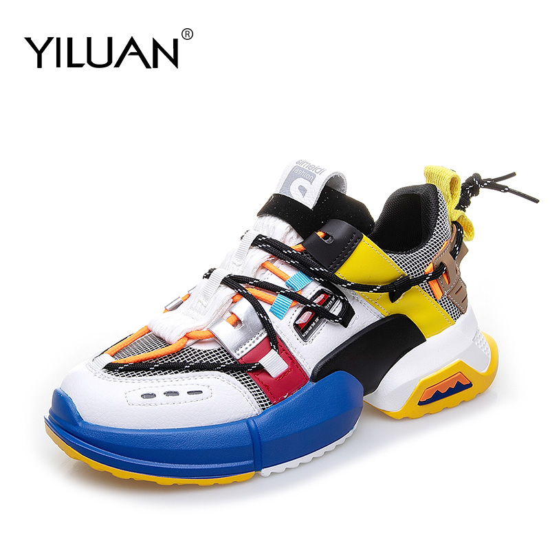 New Shoes 2020.Us 33 78 46 Off Yiluan New Sneakers Women Platform Shoes Women 2020 Autumn White Casual Shoes Woman Flat Leather Mixed Colors Student Sports In