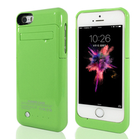 Colorful Thin Portable Charger Case 2200mAh For IPhone 5 5C 5S SE Backup Battery Kickstand Function