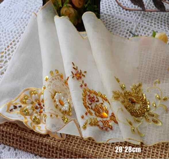 Elegant Lace Sequin Placemat Embroidery Table Place Mat Cloth