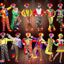 Holiday Variety Funny Clown Costumes Christmas Adult Woman Man Joker Costume Cosplay Party Dress Up Clown