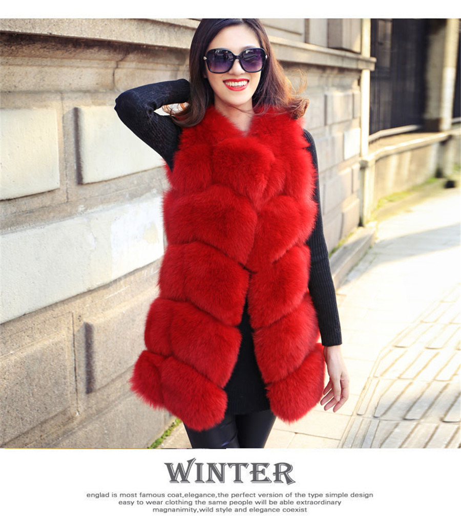 Sıcak Satış Orijinal Gerçek Fox Kürk kadın Kış Sıcak - Bayan Giyimi - Fotoğraf 4