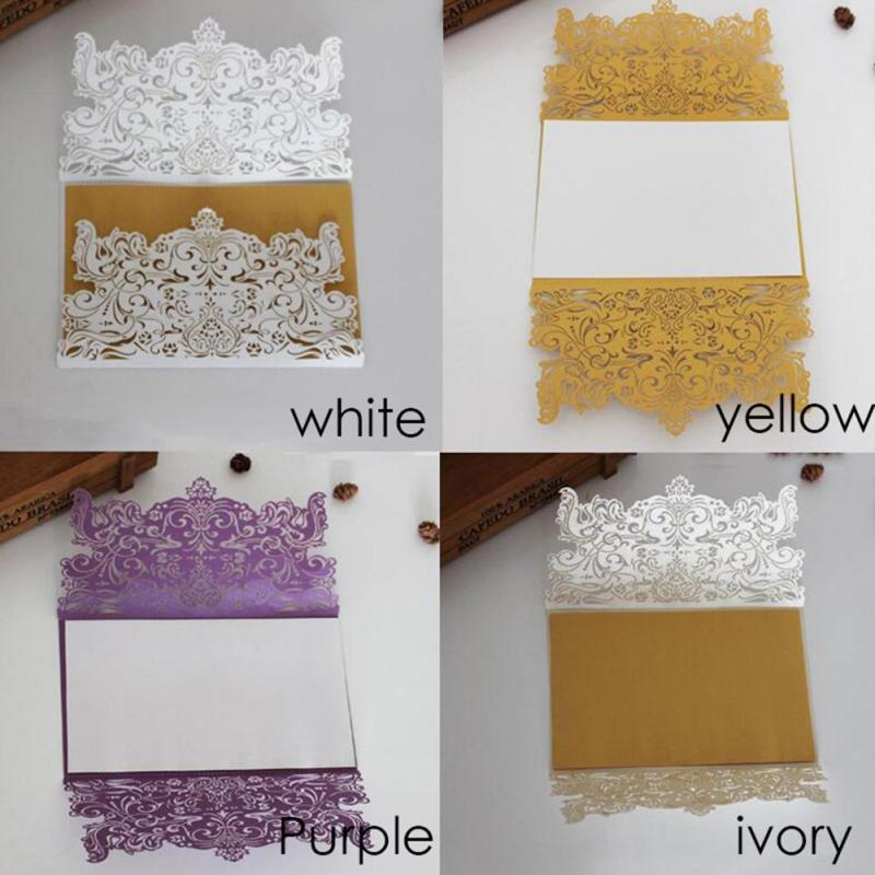 20pcs Wedding Invitation Card Craft Paper Delicate Carved wedding flower Postcard Greeting Cards Wedding Party Supplies A35 retro hollow kraft paper greeting card creative business gift card father s mothers day blessing card wedding cards 10pcs pack