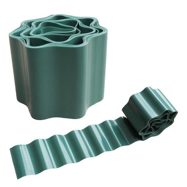 Gardening Green Flexible Plastic Garden Lawn Edging Border For Lawns Flower Beds Protect
