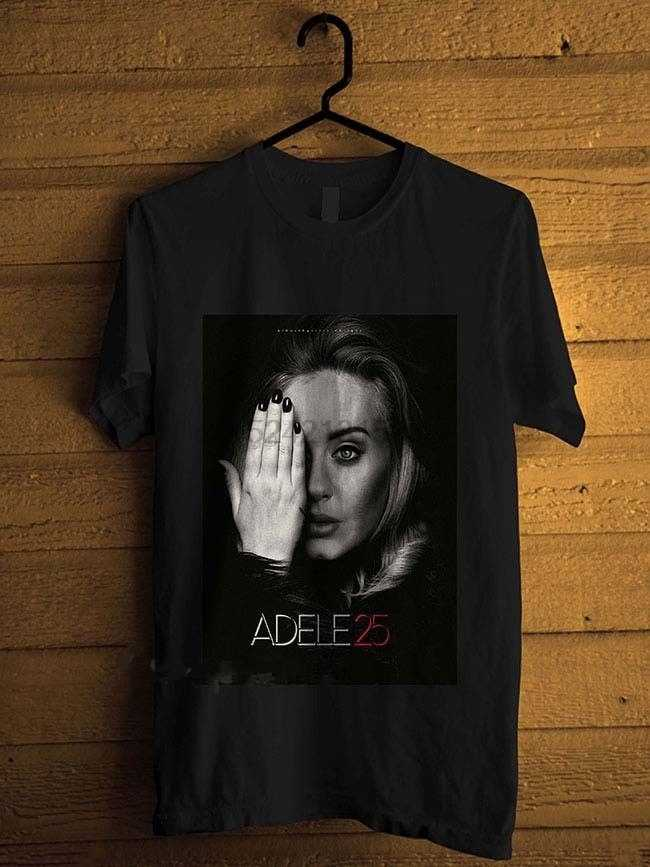 f0b5d64a15c Tops Tees 100% Cotton MenS Adele 25 Music Legend Short Sleeve Top Crew Neck  T