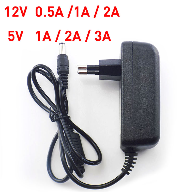 AC DC Power Adapter 100 240V Supply Charger adapter 5V 12V 9V 1A 2A 3A 0 5A US EU Plug 5 5x2 5mm for CCTV LED Strip light Lamp in AC DC Adapters from Home Improvement