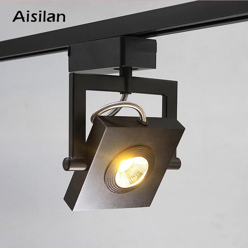 Aisilan, скандинавские СВЕТОДИОДНЫЕ Дорожки, точечный свет, Современная квадратная поверхность, монтируемая для спальни, коридора, гостиной, ф...