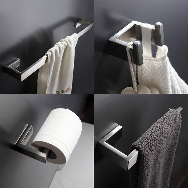 Online-Shop 304 Edelstahl Badezimmer Zubehör Set Einzigen Handtuch ...