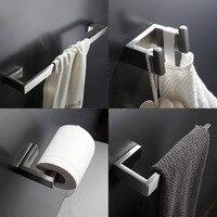 304 in acciaio inox accessori da bagno set singola barra di tovagliolo robe hook