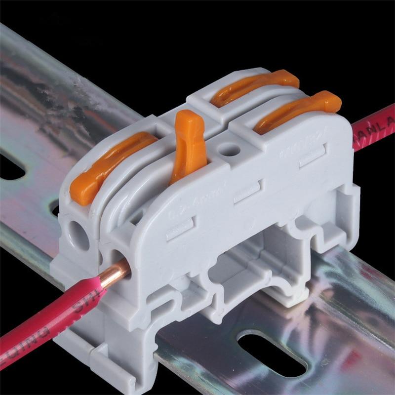 DIY YOU Wago 20/30/50/100 PCS SPL-1 PCT-121 Rail Type Quick Connection Press