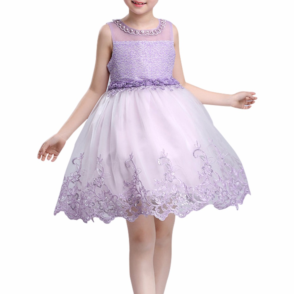 Princess Flower Girl Dress Summer 2017 Lace Tulle Flower Gown Tutu Wedding Birthday Party Dresses For Girls Baby Girl Dress retail baby girls princess wedding party flower sleeveless dress kids girl bow tutu lace tulle girl dresses free shipping l 608