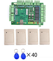 Four Door TCP IP Network Access Control Board Green Board For Door Access Control System 4
