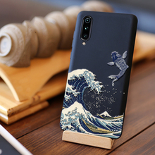 For Xiaomi mi9 case cover global back cover silicone Frosted Shield shockproof with 3D Great Emboss relief capas mi 9 SE case