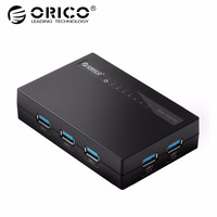 ORICO USB 3.0 HUB 7 Ports with DC Power Adapter Fast Speed ABS Material