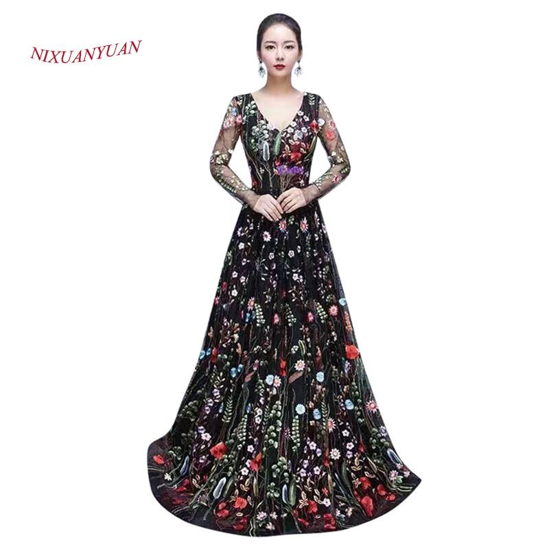 2017 Νέο Κομψό Μακρύ Βραδινό Ροζ 2016 Υψηλής Ποιότητας Φόρεμα Μακρύ Μανίκι Φόρεμα Μακιγιάζ 2016 vestidos de noite 2016