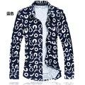 C620 Мужчины Летние Футболки 2017 Цветочные Рубашки Мужчины С Длинным Рукавом Плед Мужчины Цветок Рубашка М-5XL 6XL 7XL