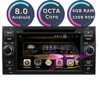 Roadlover Android 8.0 Car DVD Player Radio For 7 Ford Focus Mondeo S MAX Connect 2005 2006 2007 Stereo GPS Navigation Magnitol