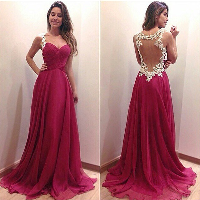 women summer free shipping vestido de festa renda new fashion sexy backless party gown 2018 long formal   bridesmaid     dresses
