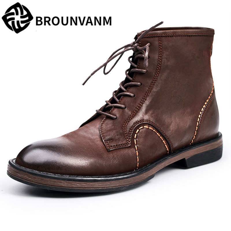 men's boots leather high boots for England scrub journeyman boots in retro men shoes Chelsea new autumn winter British retro serene handmade winter warm socks boots fashion british style leather retro tooling ankle men shoes size38 44 snow male footwear