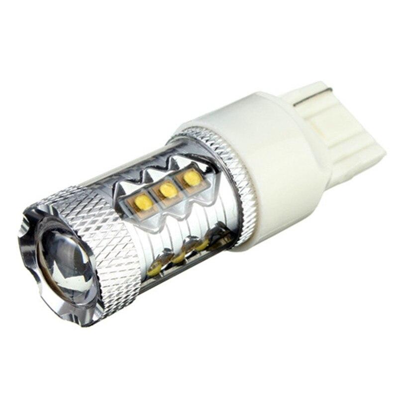 Распродажа, 2 вещи в комплекте T20 7440 2Pin 16 Светодиодный 80 Вт высокой мощности Мощность яркий светодиодный Белый Авто Противотуманные фары DRL Р...