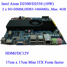 ASL Wyatt ATOM D2500 D2550 dual-core motherboard integrated MINI ITX motherboard slim small motherboard all in one MB 2 SO-DIMM