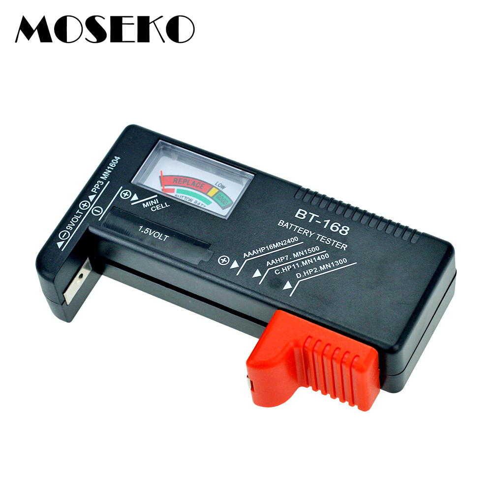 MOSEKO Universal Button Cell Battery Tester Colour Coded Meter Indicate Volt Tester Checker for AA/AAA/C/D/9V/1.5V batteries image