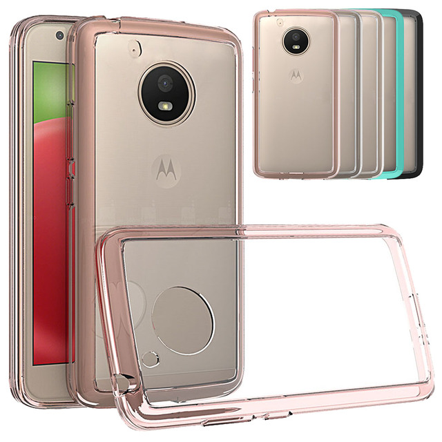 new styles 3ef1c 7da68 US $2.54 15% OFF|For Motorola Moto E4 Case Slim TPU Frame Hard Back Case  Shockproof Transparent Clear Cover For Motorola Moto E4 (US Version) @-in  ...