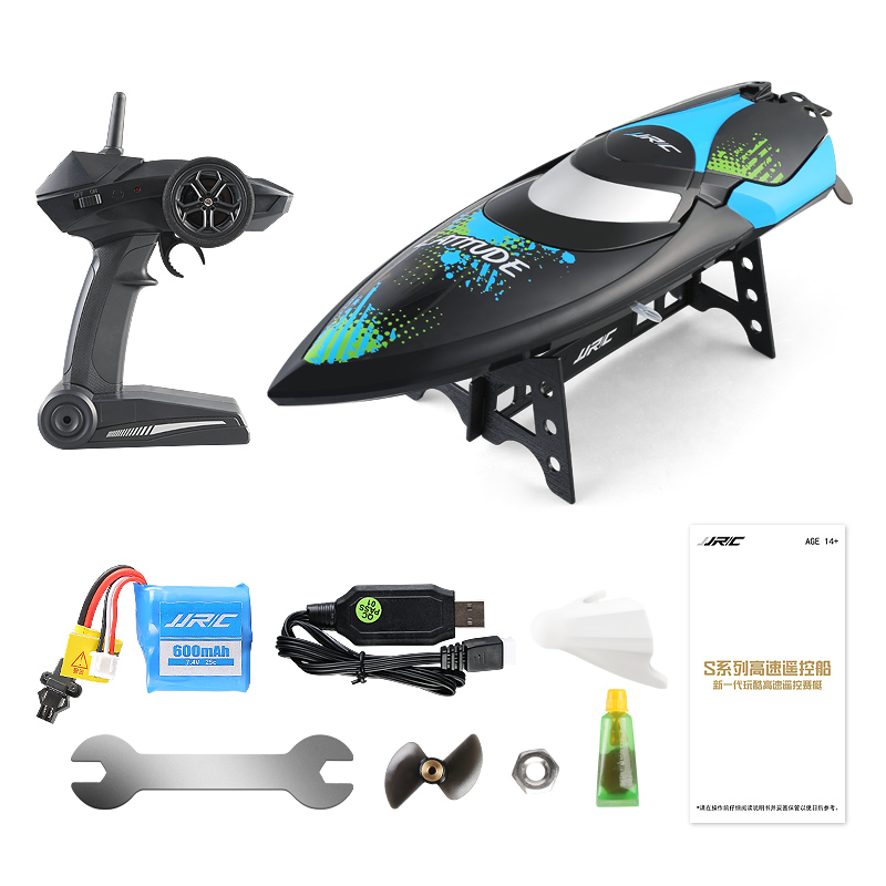 JJRC S3 2.4GHz Wireless Remote Control Ship RC Boat Turnover Reset Water Cooling High Speed 25km/H Children Electric Water Toys