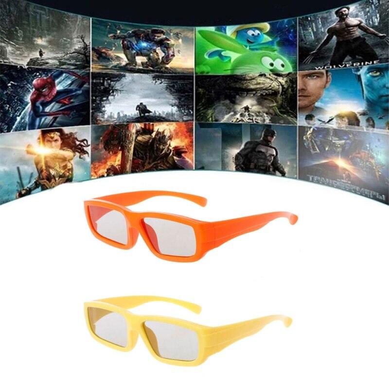 Crianças Tamanho Circulares Polarizados Passivos Óculos 3D Para Real D 3D  TV Cinema Filme bf9b2023b5