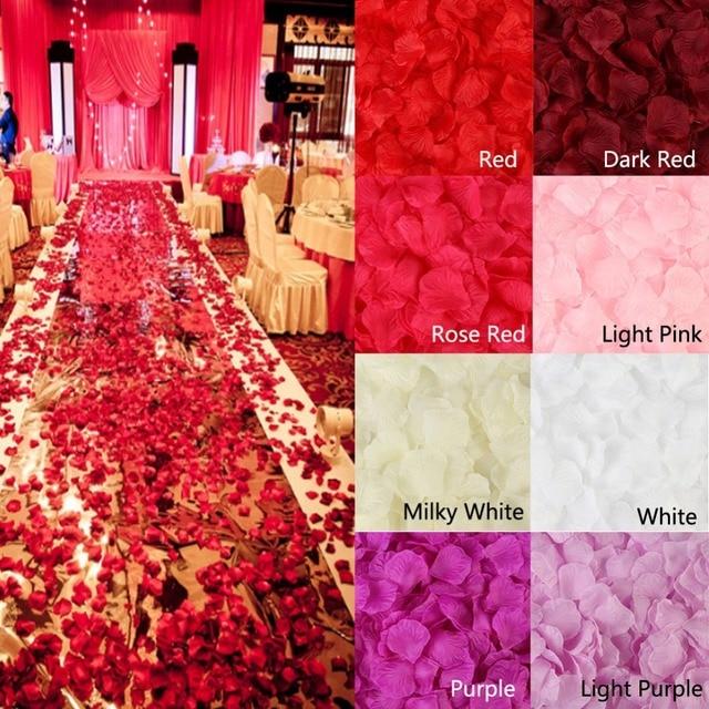500PCS/Lot 5*5CM Silk Rose Petals for Wedding Decoration Romantic Artificial Rose Flower 20 Colors Wedding Accessories #298244 1