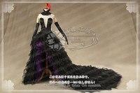 Puella Magi Madoka Magica Akemi Homura Косплей демона костюм Хэллоуин вечерние платья наряд платье + перчатки + головной убор + шея