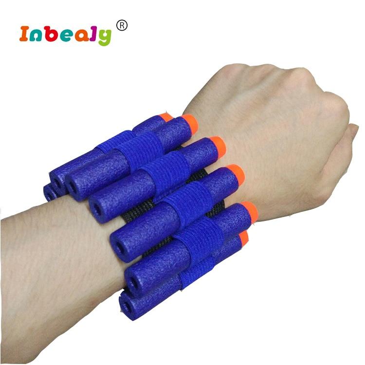 COOL Toy Gun eva bullet wristband For Nerf Gun soft bullet holder professional player bullet accessories outdoor game equipment