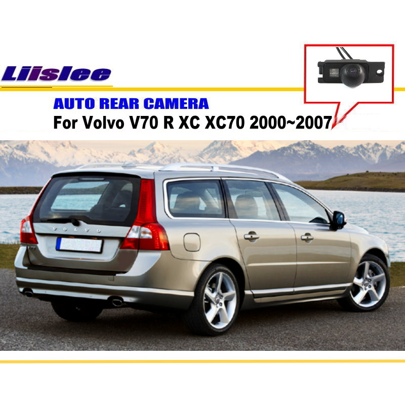 imágenes para Para Volvo V70 XC70 R XC 2000 ~ 2007 de Vista Trasera Inversa cámara de Copia de seguridad Aparcamiento Cámara/CCD HD/Luz de la Matrícula instalar