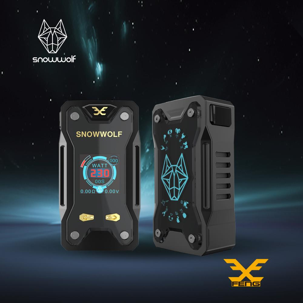 2pcs/lot Snowwolf Original 230W Mod Box E Cigarette Kit Vfeng Big LCD Display Electronic Cigarette Vape 510 Thread Tank Vapor smoant battlestar 200w tc mod electronic cigarette mods vaporizer e cigarette vape mech box mod for 510 thread atomizer x2093