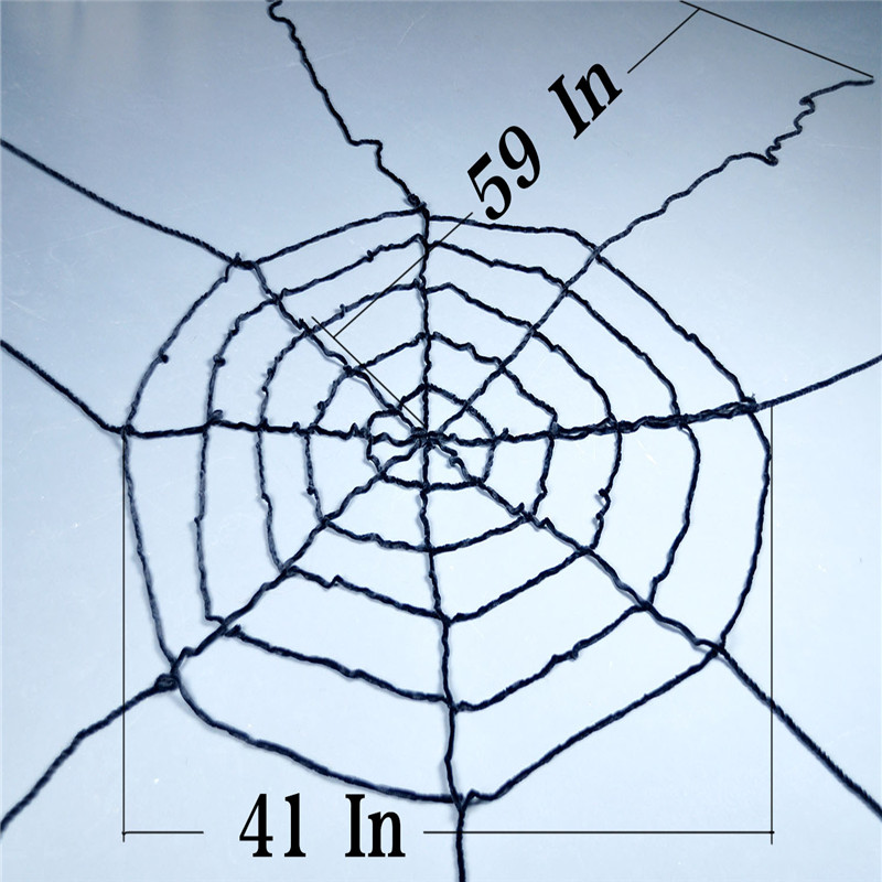 black wool lines window giant cobwebs spider web christmas party cosplay halloween decoration props joking toy