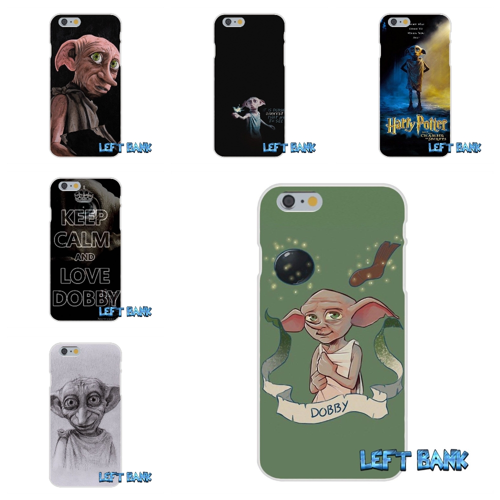 Harry Potter Dobby Soft Silicone TPU Transparent Cover Case For iPhone 4 4S 5 5S 5C SE 6 6S 7 Plus