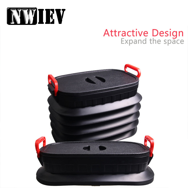 NWIEV 1X Car Trunk storage box Multifunction Collapsible For Opel Astra J G Insignia Mazda 3 6 cx 5 Subaru Nissan J11 Accesories