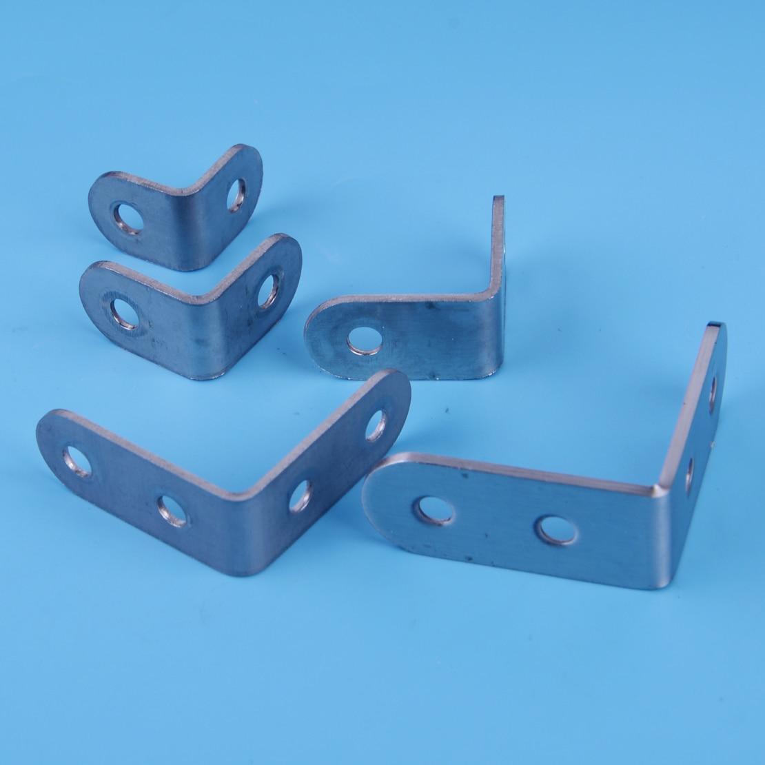 LETAOSK 10pcs Stainless Steel 90 Degree L Shape Right Angle Bracket Corner Brace Joint For Shelf Support