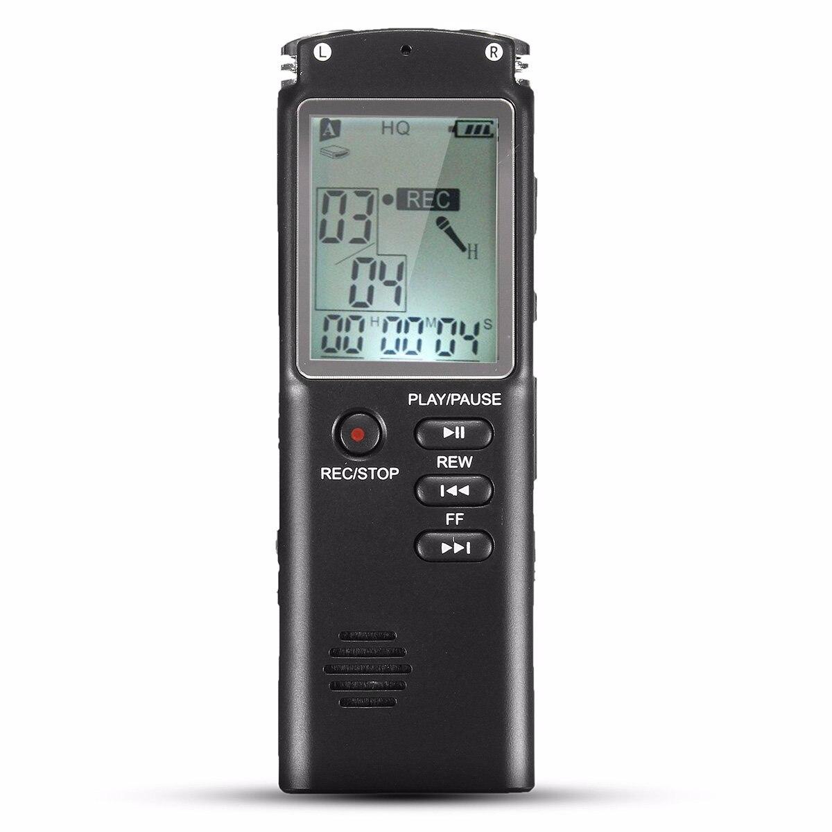 Высокое качество 8 ГБ Портативный Перезаряжаемые ЖК-дисплей Цифровой Аудио Голос Регистраторы диктофон плеер с наушниками Встроенный микрофон