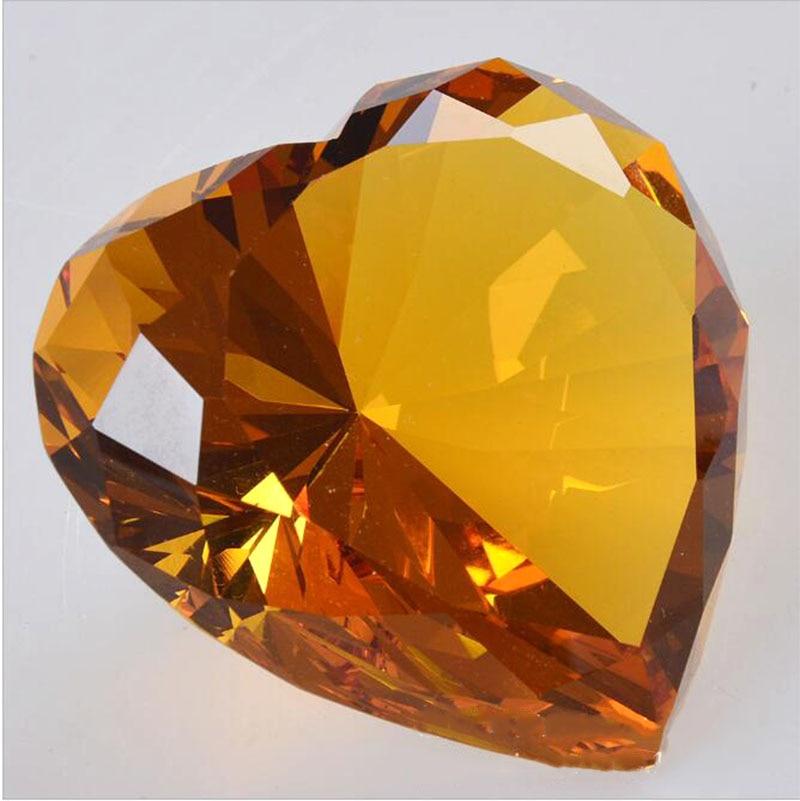 90mm formë zemre shumëngjyrëshe Diamanti i kristalit Diamanti i - Dekor në shtëpi - Foto 4